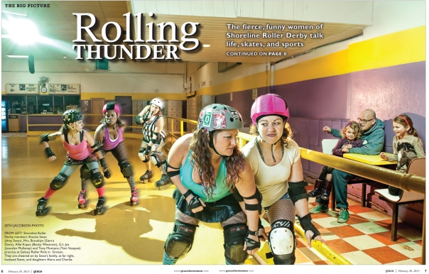 The Shoreline Roller Derby By Seth Jacobson for Grace Magazine