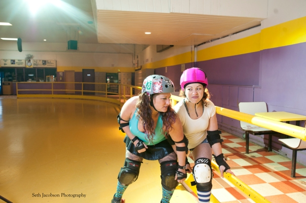 Behind the curtain with the Shoreline Roller Derby by Seth Jacobson
