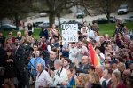 A large crowd gathers to watch as Gay Marriage becomes legal in RI